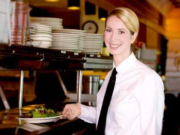 Waitress at a restaurant