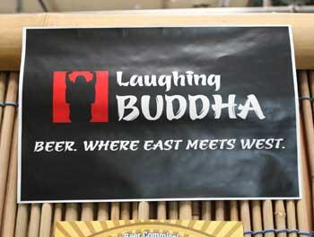 Laughing Buddha logo at their brewery