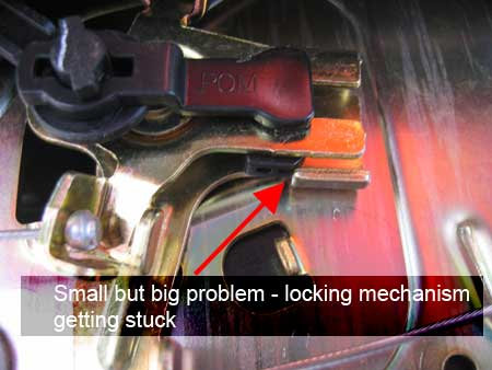 Stuck locking mechanism