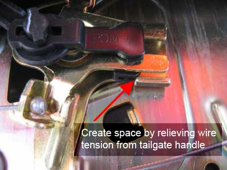Relieve handle tension on lock