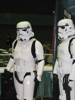 Imperial Stormtroopers keeping the order of the crowd