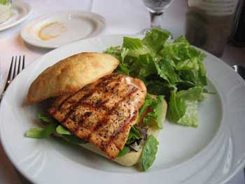 Salmon Ciabatta at Salute